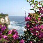 """""""Bougainvillea and Balinese Surf"""" Photograph by Melissa Childers"""