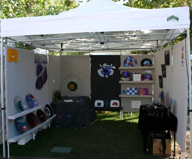 Festival Display, Childers Studio booth at Santa Fe Labor Day Weekened Show, 2004 Santa Fe, NM