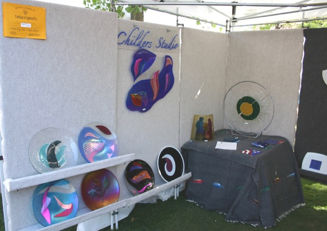 Festival Display, Childers Studio booth at Santa Fe Labor Day Weekend Show, 2004, Santa Fe, NM