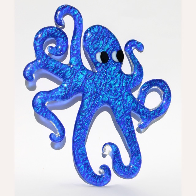 Installations- Glass Art Octopus