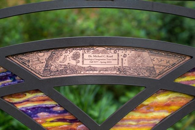 Kearl Bench installation - Focus on plaque