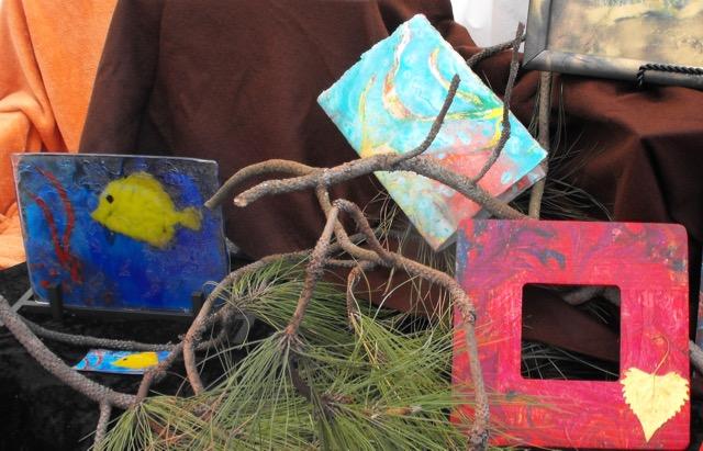 Childers glass art at Desert Palm, CA, Market